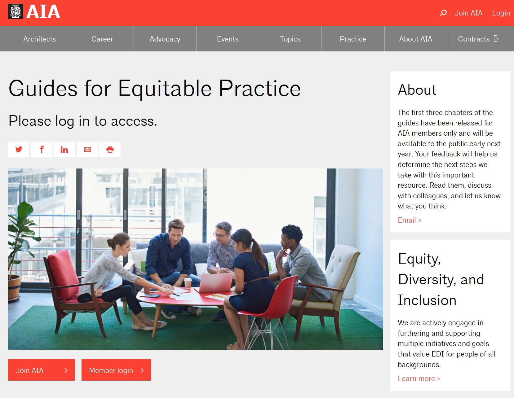 "The AIA Launches ""Guides for Equitable Practice"""