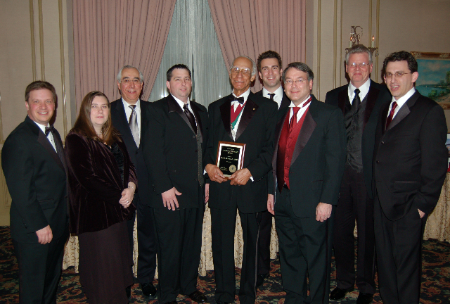 AIA NJ Photo of Van Bruner Receiving Award