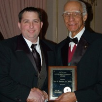 Van Bruner Receiving Award