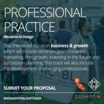 Graphic encouraging people to submit seminar proposals for Professional Practice