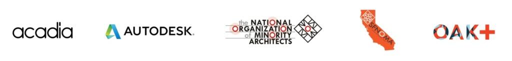 Acadia Autodesk NOMA 2020 logos