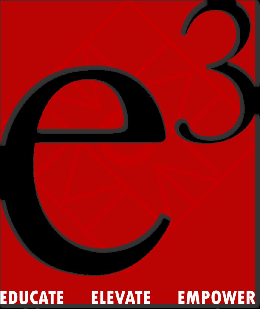 e3: EDUCATE ELEVATE EMPOWER logo